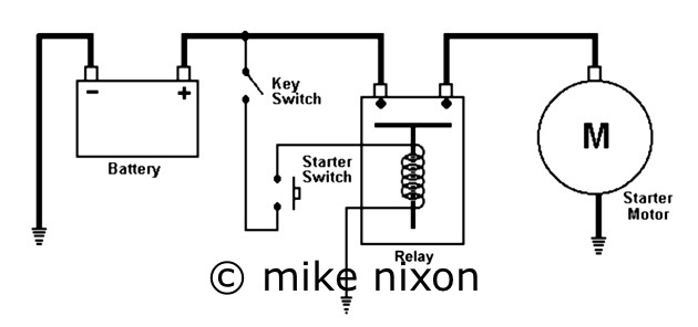 relay circuits www motorcycleproject com rh motorcycleproject com Wiring Diagram for Bike motorcycle starter motor wiring diagram